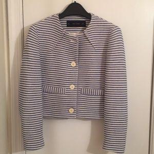 Zara striped cropped jacket